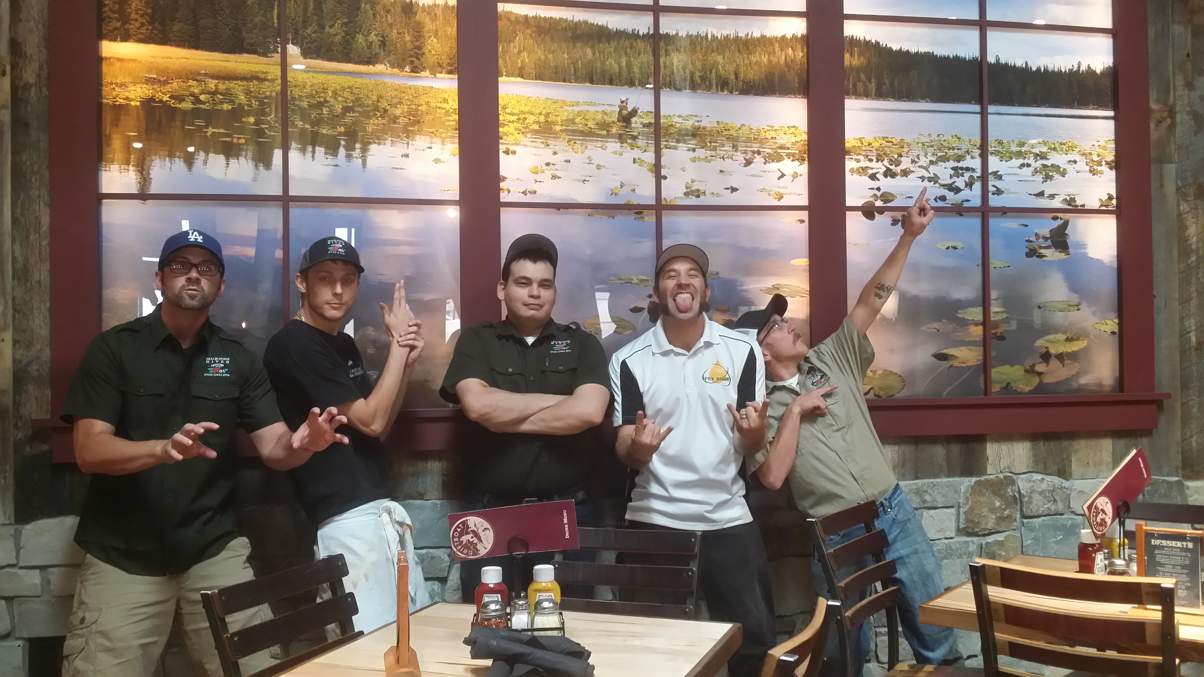 Fry Right and Mackenzie River Management having fun