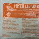 Fryer cleaner sold through food service providers
